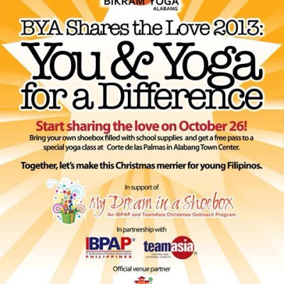 Bikram Yoga Alabang-Yoga for a Cause