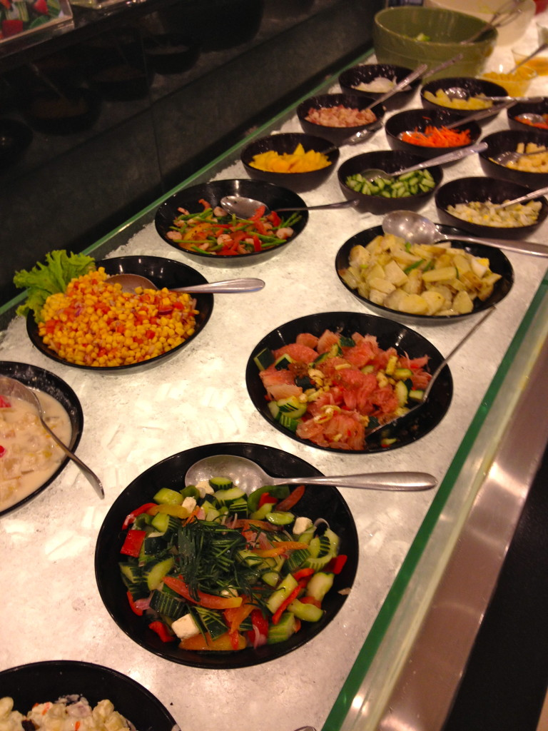 Talk about a Salad Bar! This was only half of the cold selection!