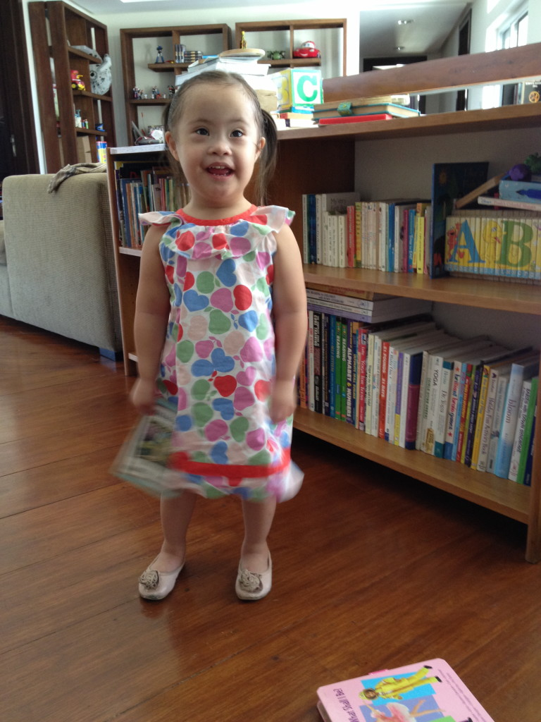 Gelli is so fresh in her Piccalilly summer dress and her Cotton On ballet flats.