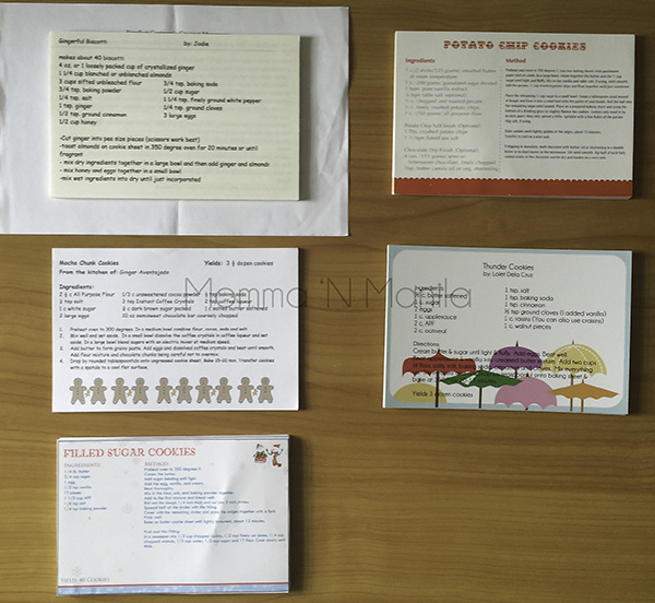 I took the time to dig out all my recipe cards. Its fun to see how the cookie swap recipes anand