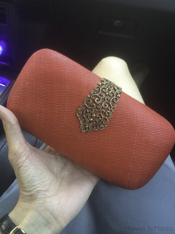 One has to accessorize for a date night with the hubby. I LOVE my Serafina clutch.