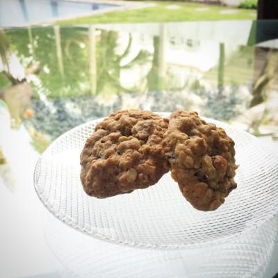 Muscovado Oatmeal Date Almond Cookies