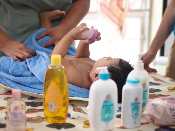 Infant and Baby Yoga is actually practiced best right after the bath. It is very similar to infant massage.