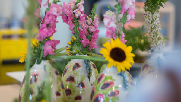 Add to the Ikebana lesson these beautiful vases sponsored by L'indochine, and it truly was a treat for our Mommas to learn something new and take home something pretty.