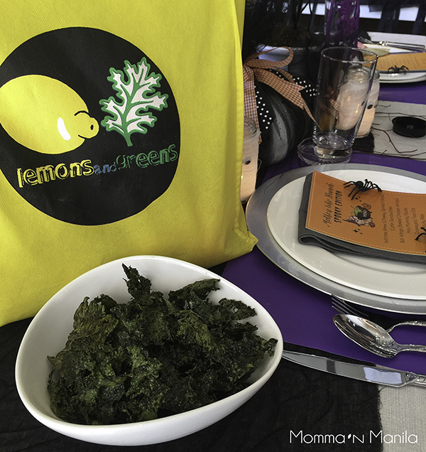 I shared with the moms, just how easy it is to make Organic Kale Chips with some good olive oil and finishing salt.