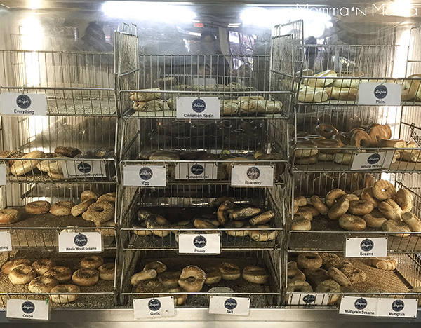 A visit to H & H for a proper bagel is only right...