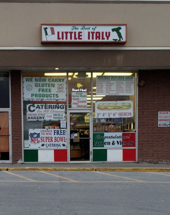 This is the neighborhood deli that I would visit every Sunday with my father for our bread and Italian treats. It looks a little different on the outside, but the crew on the inside is all still the same. Photo Credit: http://activerain.com/blogsview/4306303/monroe-ny-what-to-eat-check-out-the-best-of-little-italy-